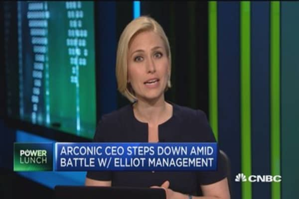 Arconic shares surge as CEO steps down