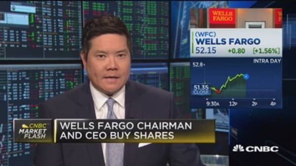 Wells Fargo chairman and CEO buy shares