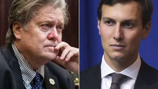 Steve Bannon and Jared Kushner