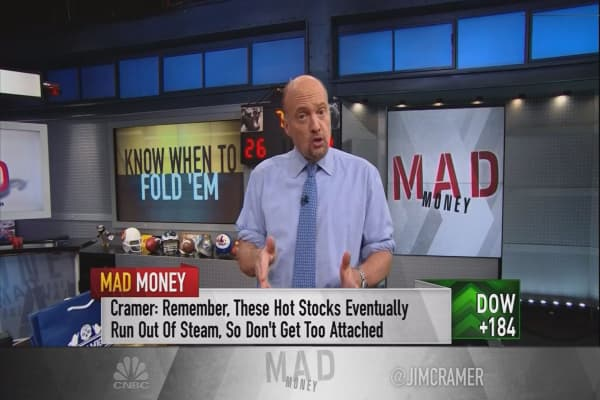 Cramer: Don't get burned! My advice for when to sell a hot stock