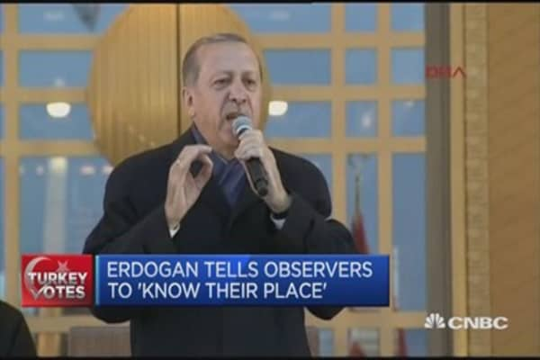 'Known your place': Erdogan to critics
