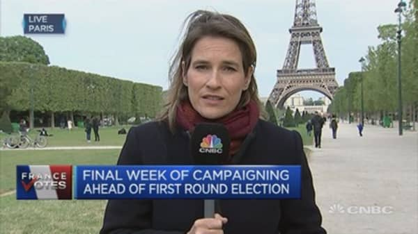 Final campaigning week ahead of French election's first round