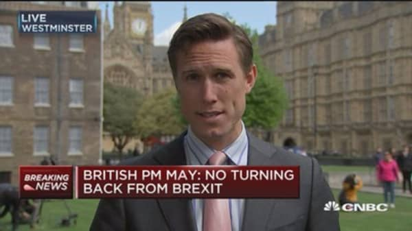 British PM May wants early election on June 8th