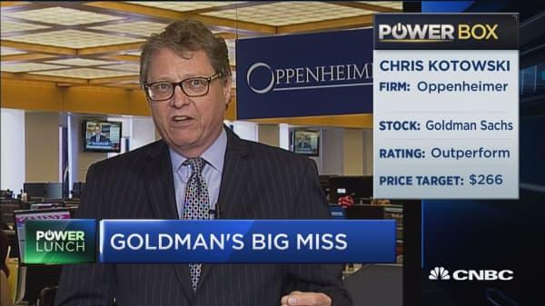 Oppenheimer senior analyst: I'm recommending Goldman, I'm a believer