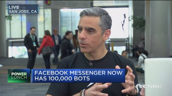 Facebook Messenger now has 100K bots