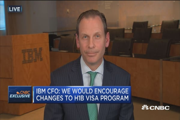 IBM CFO: We would encourage changes to H-1B Visa program