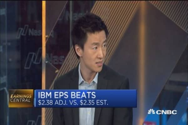 IBM post earnings beat but sales fall short