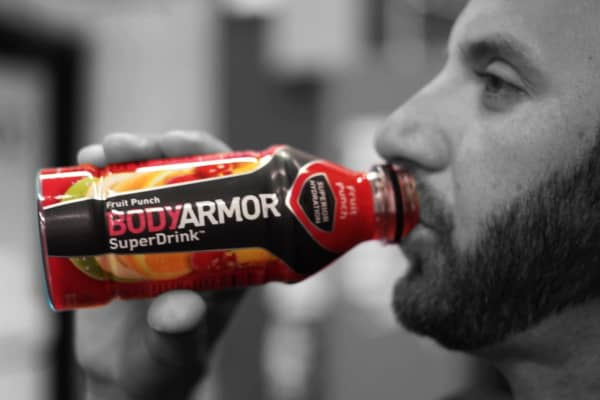Golfer Dustin Johnson in the ad for BodyArmor