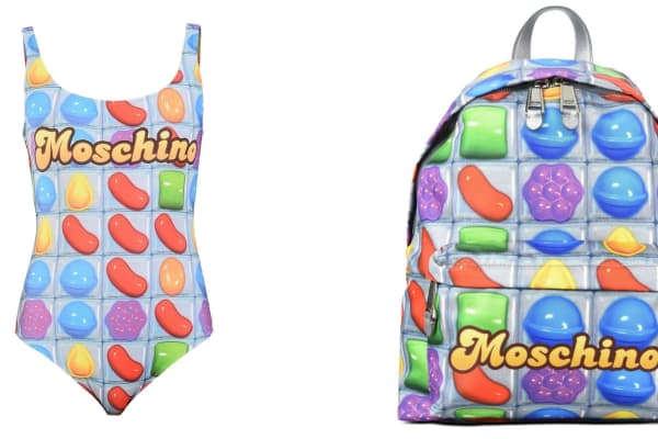 Moschino and Candy Crush Saga have launched a small range of clothing and accessories