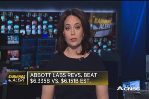 Abbott Labs beats Street on top and bottom line