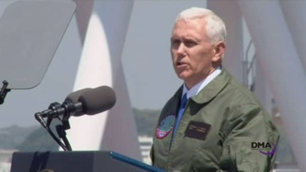 Pence tells troops in Japan that the 'sword stands ready' when it comes to North Korea