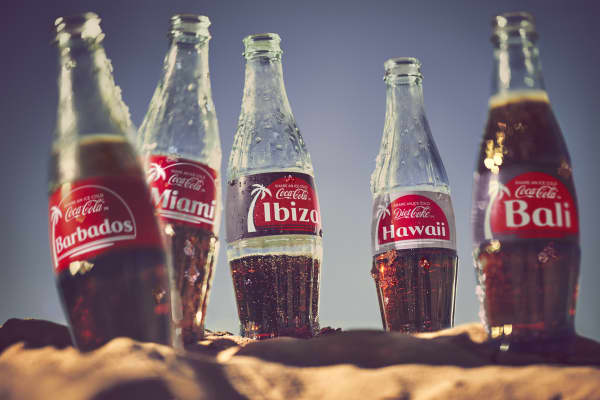 Coca-Cola U.K will use popular vacation destinations on its labels