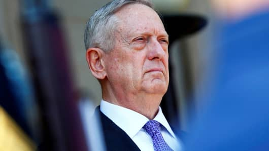 U.S. Defense Secretary James Mattis