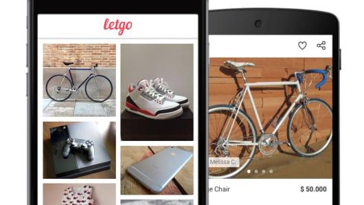 LetGo app displayed on smartphone.