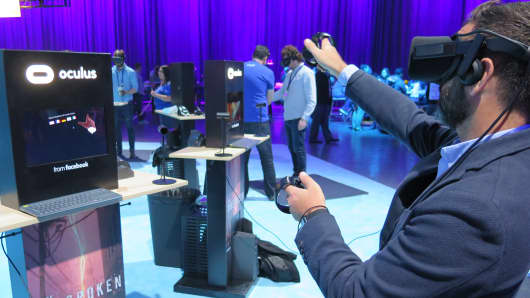 New virtual reality apps are revealed at Facebook's F8 conference in San Jose, California, on April 18 and 19, 2017.