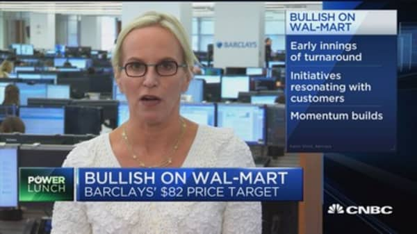 Barclays analyst: Wal-Mart has advantage where Amazon is struggling to figure out