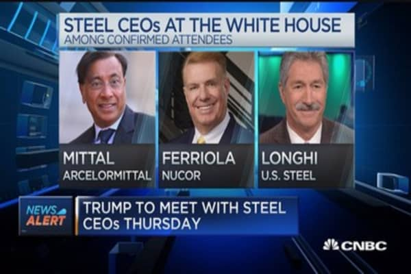 Trump to meet with steel CEOs Thursday