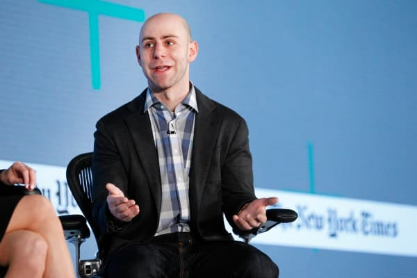 Adam Grant, Ph.D., Wharton School of Business professor, speaks onstage at The New York Times New Work Summit.