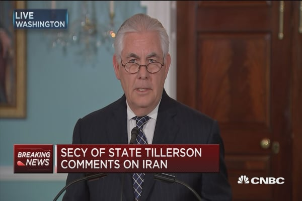 Tillerson: Iran spends time disrupting peace