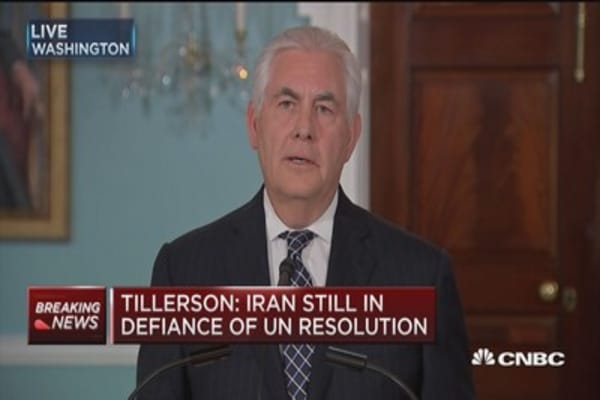 Tillerson: Conducting review of Iran policy