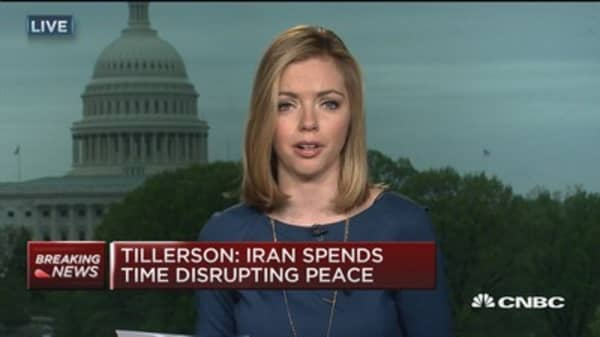 Secretary of State Rex Tillerson comments on Iran