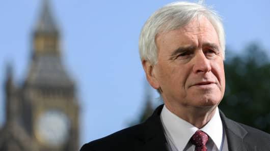 British Labour Party politician John McDonnell
