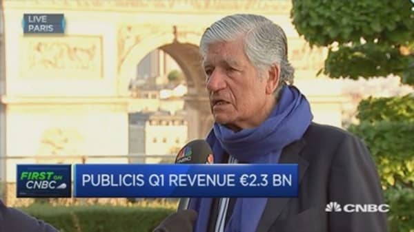 Negative growth a consequence of the past: Publicis CEO
