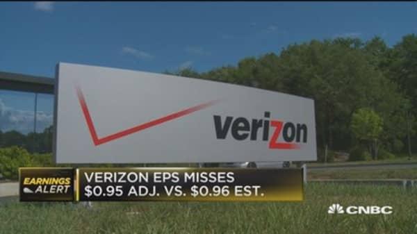 Verizon Q1 misses on top and bottom line