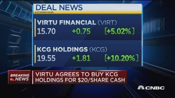 Virtu agrees to buy KCG holdings for $20/share cash