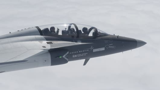Lockheed Martin, along with Korea Aerospace Industries is proposing the T-50A for the Air Force's T-X Trainer competition.