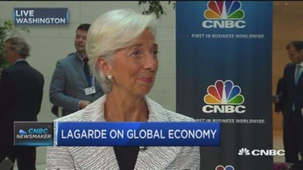 Lagarde: US improvement helping drive global growth
