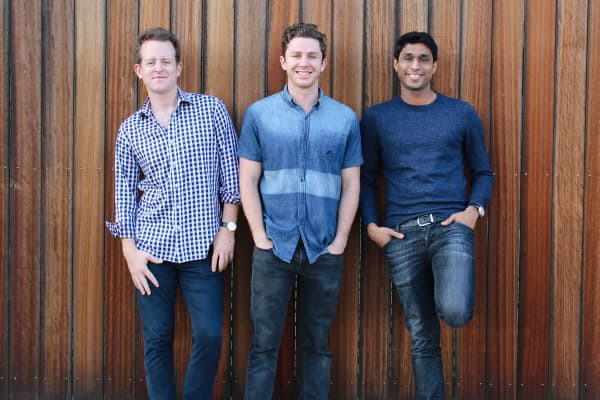 The general partners of Kairos Society Ventures (left to right): Ryan Bloomer, Alex Fiance and Ankur Jain