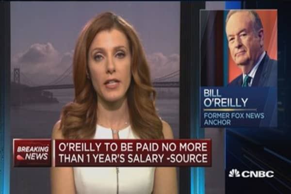O'Reilly to be paid no more than 1 year's salary: Source