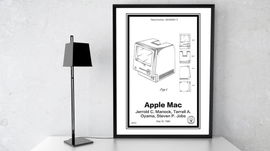 Retro Patents turn patents into framed art