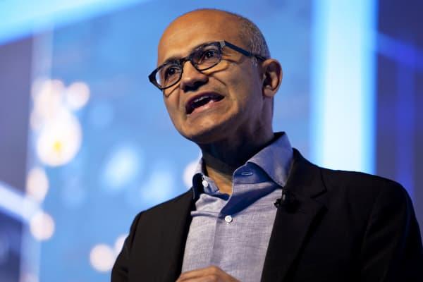 Satya Nadella, chief executive officer of Microsoft
