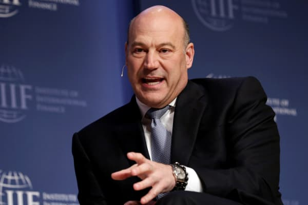 National Economic Council Director Gary Cohn speaks at 2017 Institute of International Finance (IIF) policy summit in Washington, U.S., April 20, 2017.