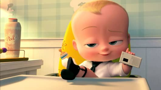 "An image from the movie ""Boss Baby."""