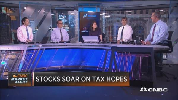Tax talk sparks stocks
