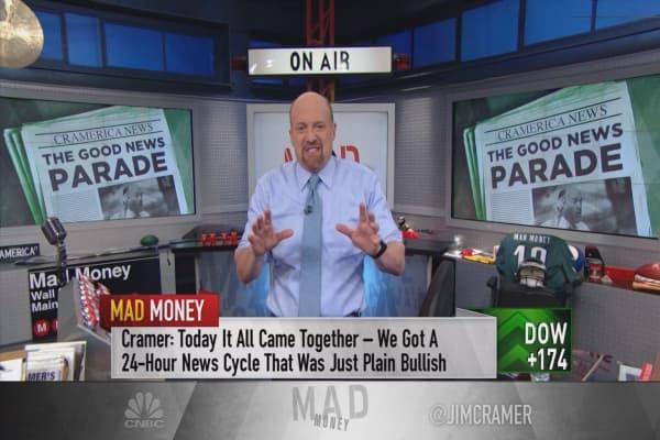 Cramer pinpoints the origins of the market's bullish surge