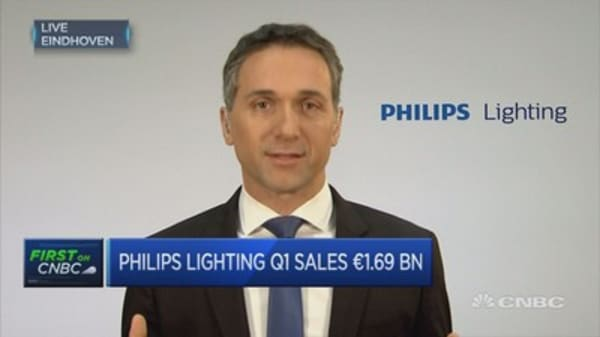 First quarter sales a substantial improvement to previously: Philips Lighting CEO