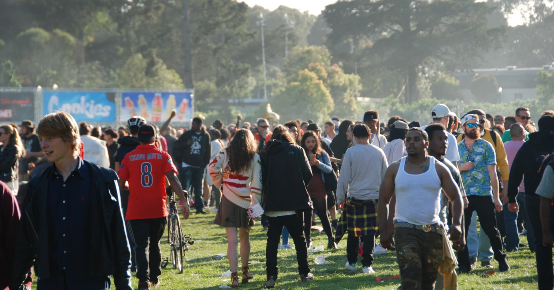 4/20 Celebration on Hippie Hill in San Francisco.