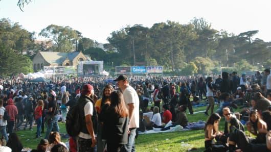 4/20 Celebration on Hippie Hill in San Francisco