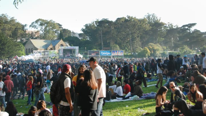 4/20 Celebration on Hippie Hill in San Francisco