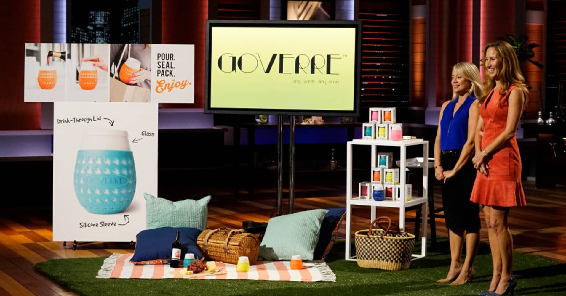 "The Goverre co-founders pitch on ""Shark Tank."""