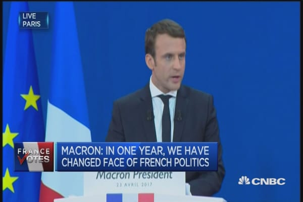 In one year, we have changed face of French politics: Macron