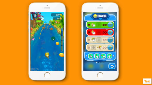 A screenshot of education start-up LeapLearner's mobile platform.