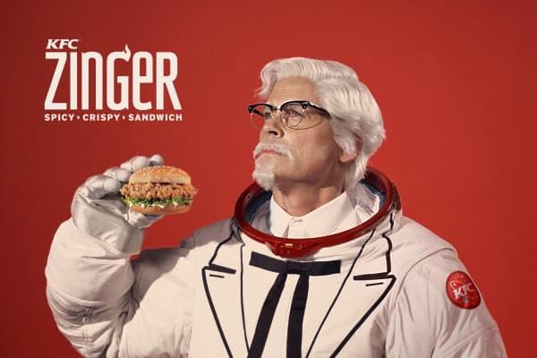 Rob Lowe as KFC's Colonel Sanders