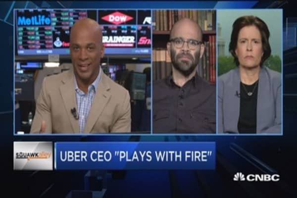 Uber CEO 'plays with fire'