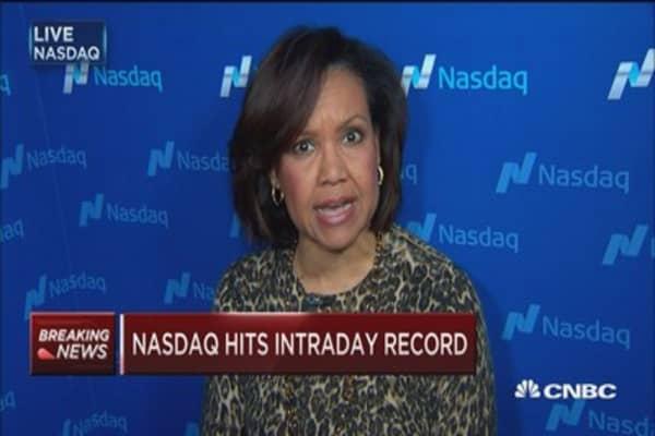 Nasdaq hits intraday record