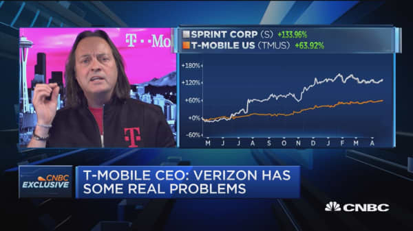 T-Mobile CEO: Verizon has some real problems